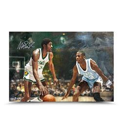 "Michael Jordan  Magic Johnson Signed ""Remember The Times"" LE 16x24 Photo (UDA COA)"
