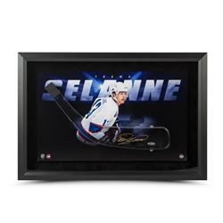 Teemu Selanne Signed Jets 25x17 Acrylic Stick Blade with Shadow Watcher Photo Framed Shadow Box Disp
