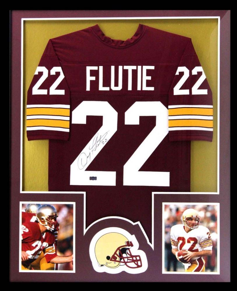 Doug Flutie Signed Boston College Eagles 34x42 Custom