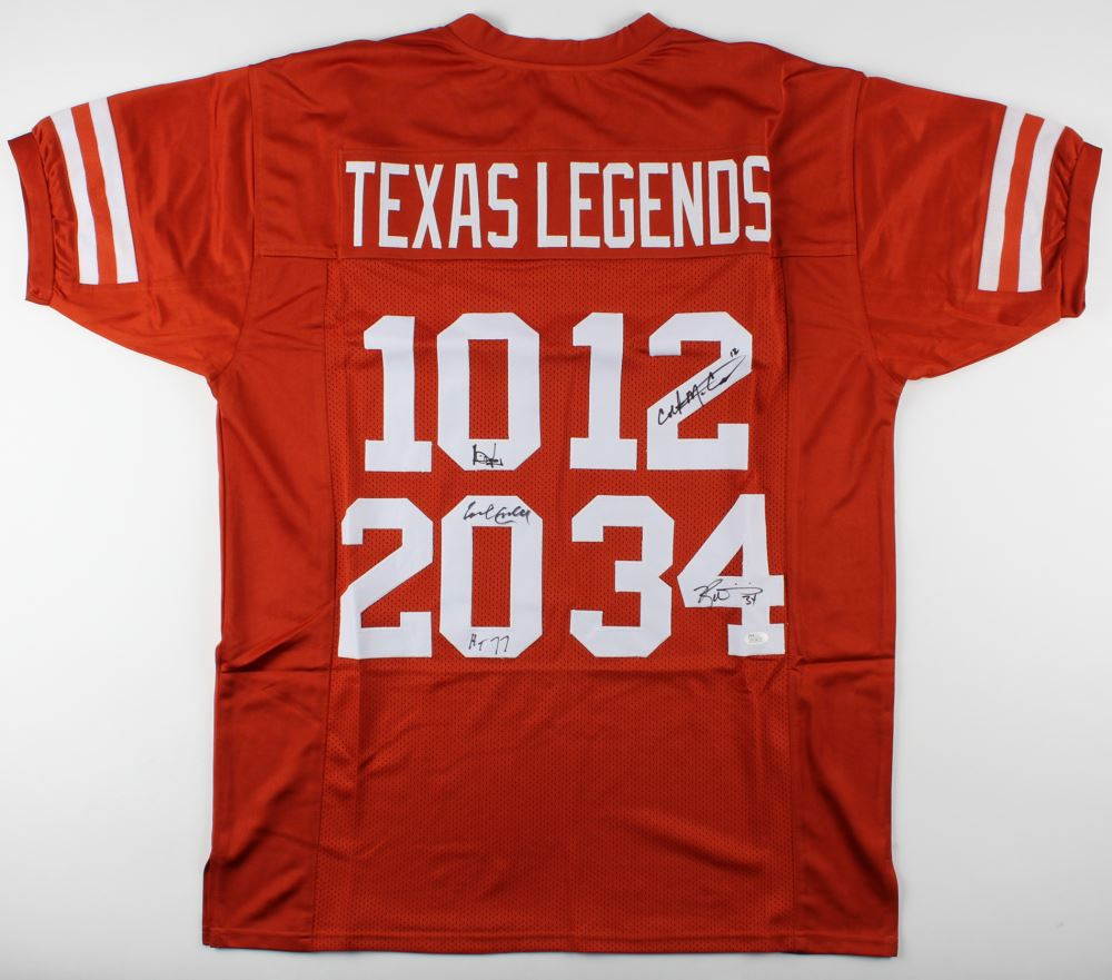 arrives 3f979 94c2b Texas Longhorns Jersey signed by (4) Colt McCoy, Vince ...