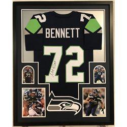 Michael Bennett Signed Seahawks 34x42 Custom Framed Jersey (JSA COA)