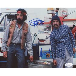 Tommy Chong  Cheech Marin Signed 8x10 Photo (JSA COA)