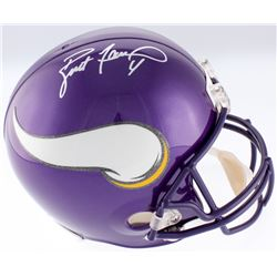 Brett Favre Signed Vikings Full-Size Helmet (Favre COA)