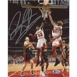 Dennis Rodman Signed Bulls 8x10 Photo (Beckett COA)