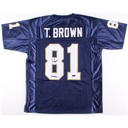 "Tim Brown Signed Notre Dame Fighting Irish Jersey Inscribed ""Heisman 87""  (Radtke COA)"