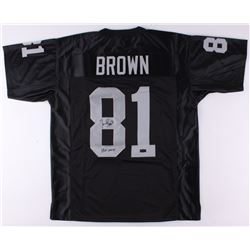 "Tim Brown Signed Raiders Jersey Inscribed ""HOF 2015"" (Radtke COA)"