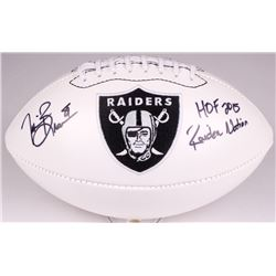 "Tim Brown Signed Raiders Logo Football Inscribed ""HOF 2015""  ""Raiders Nation"" (Radtke COA)"