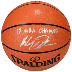 Klay Thompson Signed Basketball Inscribed  17 NBA Champs  (Fanatics Hologram)