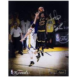 "Kyrie Irving Signed LE Cavaliers ""15-16 NBA Champs"" 16x20 Photo (Panini COA)"