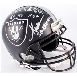 Fred Biletnikoff, Marcus Allen,  Jim Plunkett Signed Raiders Custom Matte Black Full-Size Authentic