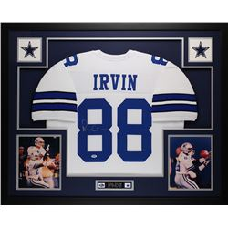 Michael Irvin Signed Cowboys 35x43 Custom Framed Jersey (PSA COA)