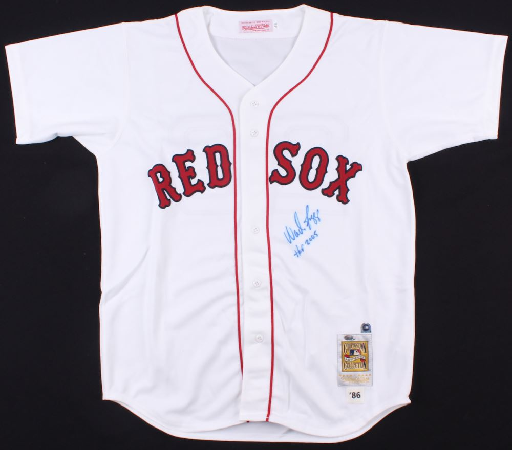 finest selection e6d4a 97eba Wade Boggs Signed Red Sox Jersey Inscribed
