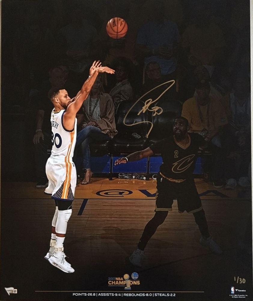 4d797371d16 Image 1   Stephen Curry Signed Warriors 2017 NBA Championship 20x24 Photo ( Fanatics Hologram)