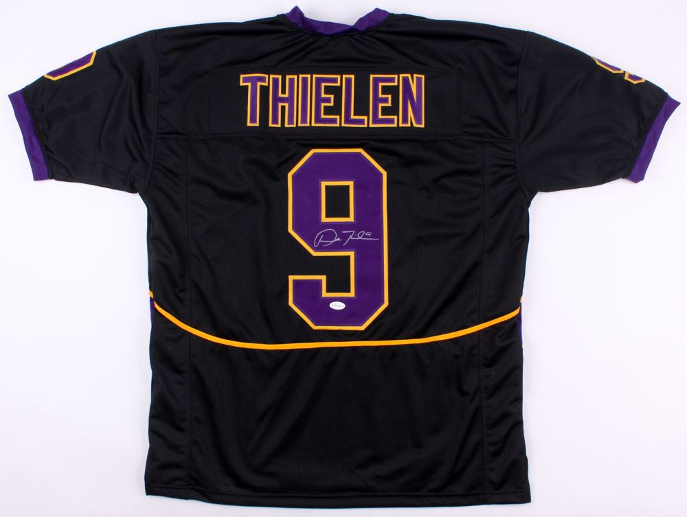 separation shoes a3555 dba7a Adam Thielen Signed Minnesota State Mavericks Jersey (TSE ...