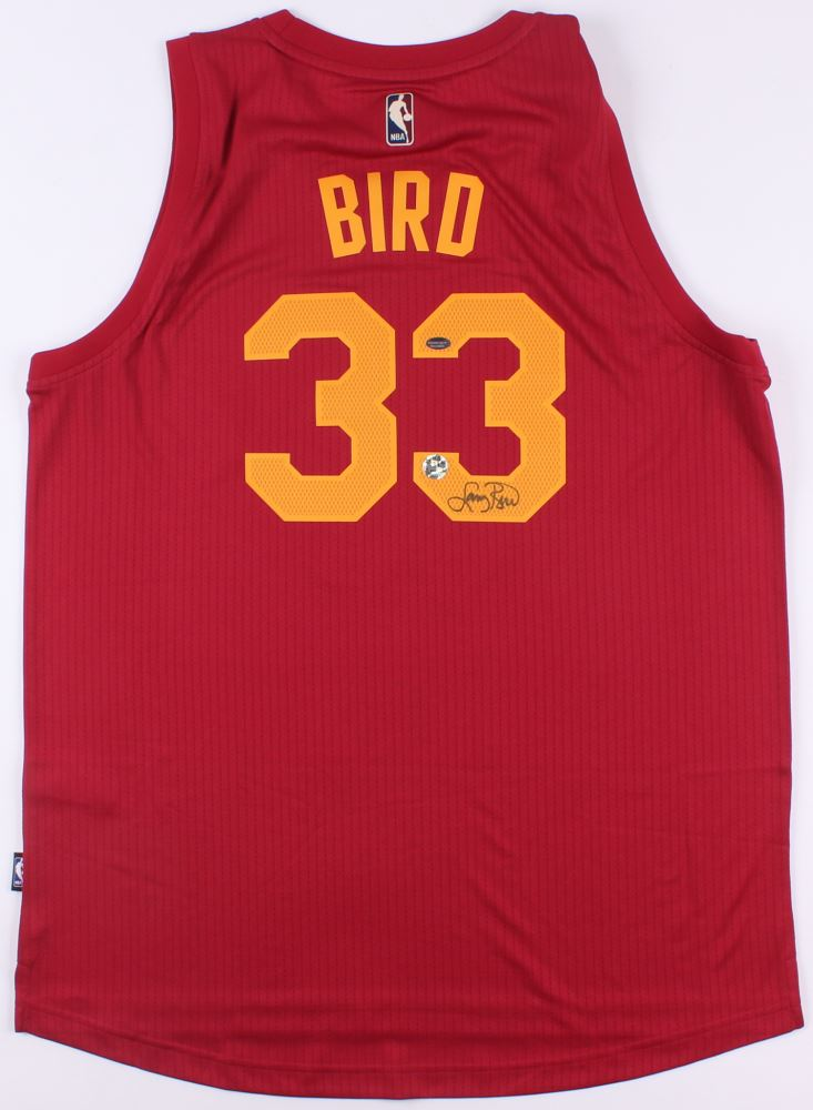 quality design 7fbb9 6dfe3 Larry Bird Signed Pacers Throwback