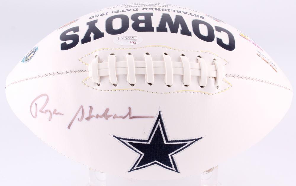 d5698cb44a9 Image 1   Roger Staubach Signed Cowboys Logo Football (JSA COA)