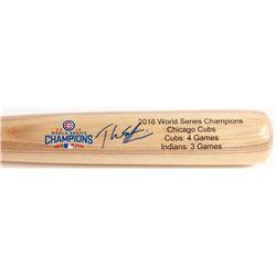 Theo Epstein Signed Louisville Slugger 2016 Cubs World Series Champions Baseball Bat (Schwartz COA)