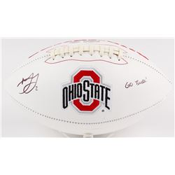 Marshon Lattimore Signed Ohio State Buckeyes Logo Football Inscribed  GO BUCKS!  (Radtke COA  Lattim