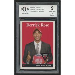 2008-09 Topps 1958-59 Variations #196 Derrick Rose (BCCG 9)