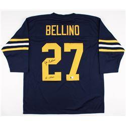 Joe Bellino Signed Navy Jersey Inscribed  H 1960  (Radtke COA)