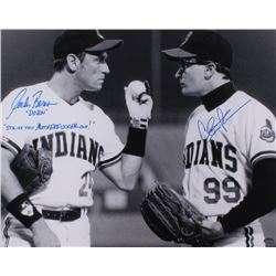 Charlie Sheen  Corbin Bernsen Signed  Field Of Dreams  16x20 Photo Inscribed  Dorn    Strike That Mo