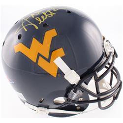 Steve Slaton Signed West Virginia Mountaineers Full Size Authentic On-Field Helmet  (JSA COA)