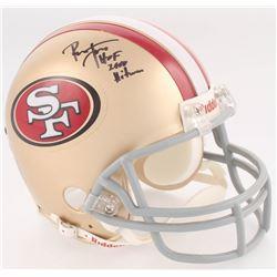 "Ronnie Lott Signed 49ers Mini-Helmet Inscribed ""HOF 2000""  ""Hitman"" (Upper Deck COA  Lott Hologram)"