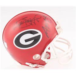 Aaron Murray  Matthew Stafford Signed Georgia Bulldogs Mini-Helmet (Radtke COA  Stafford Hologram)