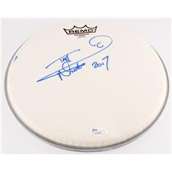 "Nicko McBrain Signed Drum Head Inscribed ""2017"" (JSA COA)"