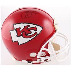 Larry Johnson Signed Chiefs Authentic On-Field Full-Size Helmet (JSA COA)