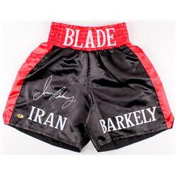 Iran Barkley Signed Boxing Trunks (MAB Hologram)