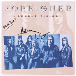 """Lou Gramm  Mick Jones Signed Foreigner """"Double Vision"""" Vinyl Record Album Inscribed """"All the Best!!"""""""