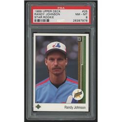1989 Upper Deck #25 Randy Johnson RC (PSA 8)