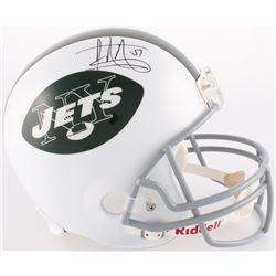 Jonathan Vilma Signed Jets Full-Size Helmet (JSA COA)