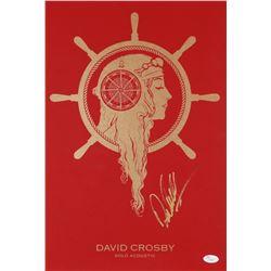 "David Crosby Signed ""Solo Acoustic"" 12x18 Poster (JSA COA)"