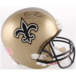 Reggie Bush Signed Saints Full-Size Helmet (JSA COA  Bush Hologram)