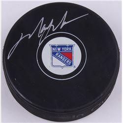Mark Messier Signed Rangers Logo Hockey Puck (Schwartz COA)