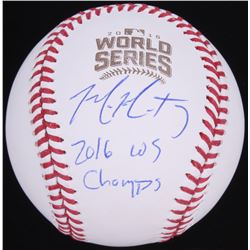 """Mike Montgomery Signed 2016 World Series Baseball Inscribed """"2016 WS Champs"""" (Schwartz Sports COA)"""