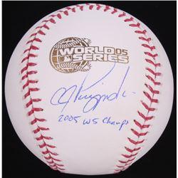 "A. J. Pierzynski Signed 2005 World Series Baseball Inscribed ""2005 WS Champs"" (Schwartz Sports COA)"