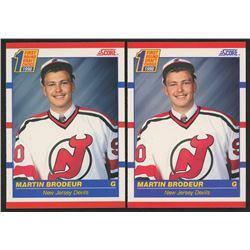Lot of (2) 1990-91 Score #439 Martin Brodeur RC