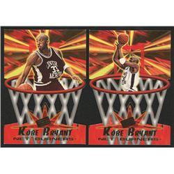 Lot of (2) Kobe Bryant Cards with 1996 Press Pass Net Burners #13  1996 Press Pass Net Burners #4