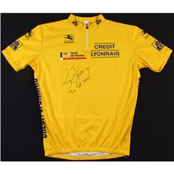 """Lance Armstrong Signed Credit Lyonnais Cycling Jersey Inscribed """"7x TDF Champ"""" (Schwartz COA)"""
