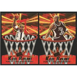 Lot of (2) Kobe Bryant Cards with 1996 Press Pass Net Burners #13  1996 Press Pass Net Burners #4