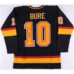 "Pavel Bure Signed Canucks Jersey Inscribed ""HOF 12"" (Beckett COA)"