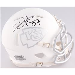 Travis Kelce Signed Chiefs Matte White ICE Mini Speed Helmet (JSA COA)