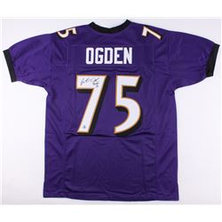 """Jonathan Ogden Signed Ravens Jersey Inscribed """"HOF 13"""" (Jersey Source COA)"""