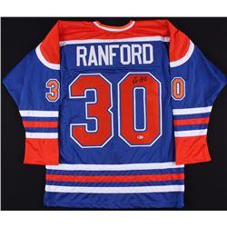 Bill Ranford Signed Oilers Jersey (Beckett COA)