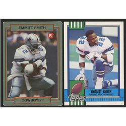 Lot of (2) Emmitt Smith Cards with 1990 Action Packed Rookie Update #34 Emmitt Smith RC  1990 Topps