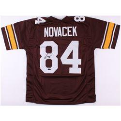 Jay Novacek Signed Wyoming Cowboys Jersey (JSA COA  Radtke COA)