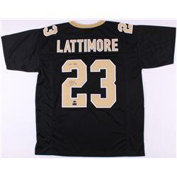"Marshon Lattimore Signed Saints Jersey Inscribed ""2017 DROY"" (Radtke COA)"
